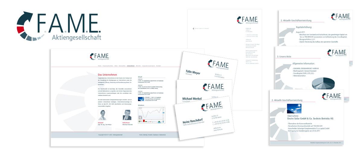 ... digital ... gedruckt | FAME AG, Berlin