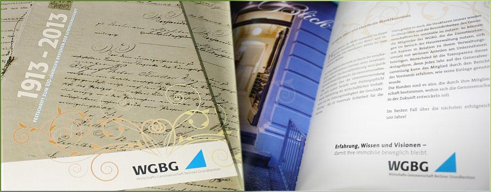 Arbeitsbeispiel: Festschrift der WGBG 2013