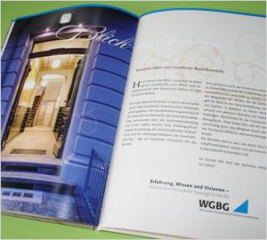 Festschrift der WGBG erstellt von der designenergie Werbeagentur aus Berlin