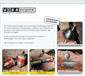 designenergie Werbeagentur Berlin - Referenz: Website www.purgomat.de