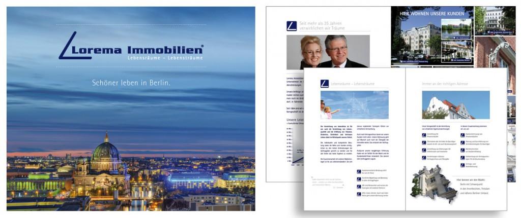 Lorema Broschüre von der designenergie Werbeagentur Berlin