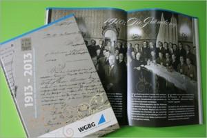WGBG Festschrift, erstellt von der designenergie Werbeagentur