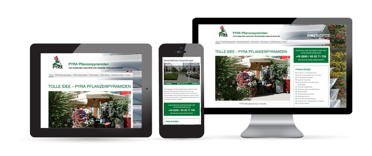 Internetauftritt PYRA Pflanzenpyramiden