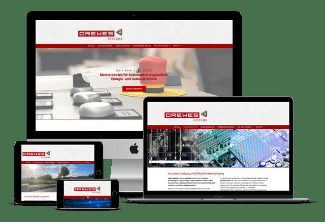 webseitenabbildung Drewes Systems