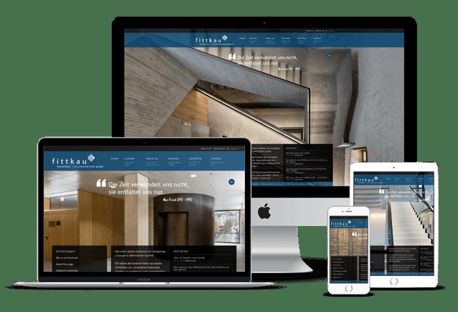 Webseite der fittkau metallgestaltung